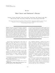 Skin cancer and Parkinson's disease - The Movement Disorder ...