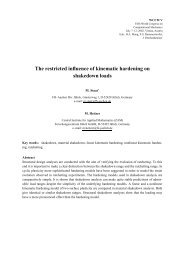 The restricted influence of kinematic hardening on ... - FH-Aachen