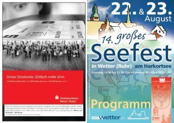 Programm Seefest 09 - Stadt Wetter
