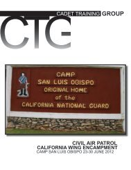 LIFE - California Wing Cadet Programs