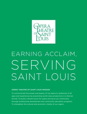 2011 Annual Report - Opera Theatre of Saint Louis