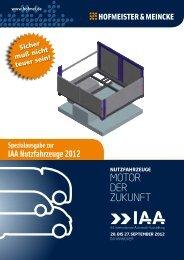 Spezialausgabe zur IAA Nutzfahrzeuge 2012 - Hofmeister & Meincke