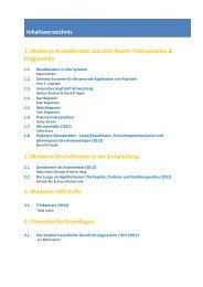 1. Moderne Arzneiformen auf dem Markt: Therapeutika ...