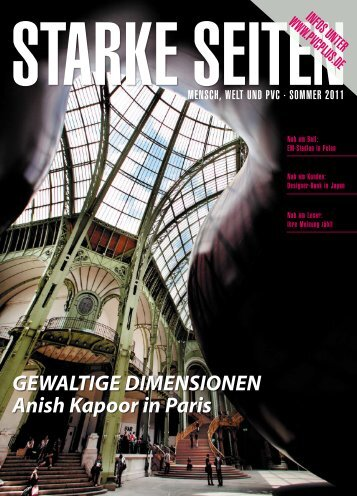 GewaltiGe Dimensionen anish Kapoor in Paris - PVCplus