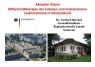 Aktueller Stand Differentialtherapie der kutanen und mukokutanen ...