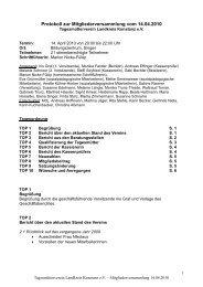 Protokoll zur Mitgliederversammlung vom 14.04.2010