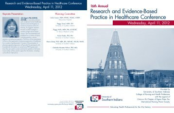 Research and Evidence-Based Practice in Healthcare Conference