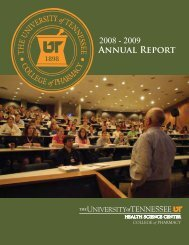 Annual Report - The University of Tennessee Health Science Center