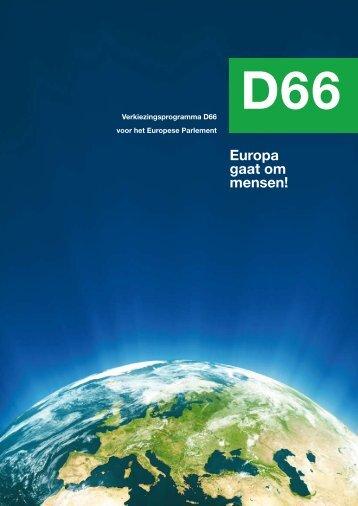 Europa gaat om mensen! - D66.nl