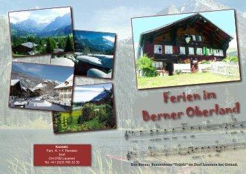 Ferien im Berner Oberland
