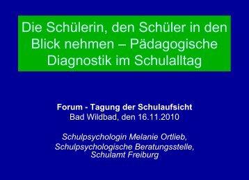 Pädagogische Diagnostik oder - Diagnostik im Schulalltag