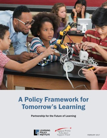 A Policy Framework for Tomorrow's Learning