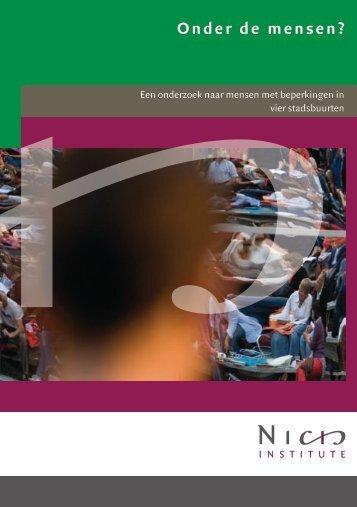 Publicatie | Onder de mensen - Nicis Institute