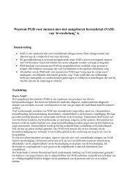 PGB voor mensen met niet aangeboren hersenletsel (NAH)