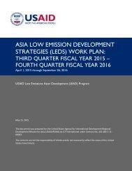 ASIA LOW EMISSION DEVELOPMENT STRATEGIES (LEDS) WORK PLAN