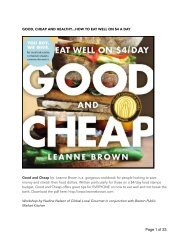 Good & Cheap Cookbook