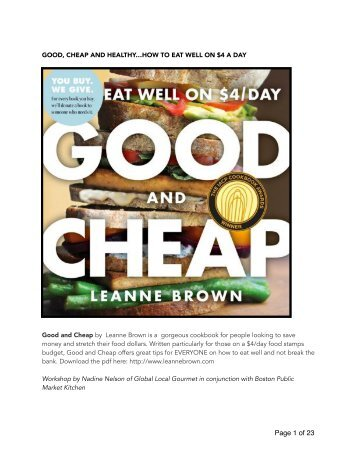 Good & Cheap Cookbook