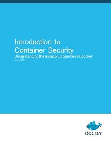 Introduction to Container Security