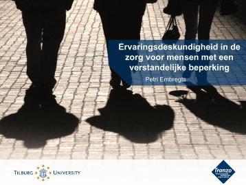 Ervaringsdeskundigheid in de zorg voor mensen ... - Tilburg University