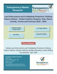 Law Enforcement & Firefighting Protective Clothing Fabrics Systems - Global Industry Analysis 2024