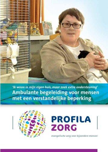 Ambulante begeleiding voor mensen met een ... - Profila Zorg