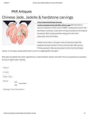 Chinese Jade, Jadeite & hardstone carvings