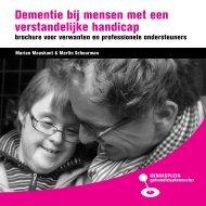 Dementie bij mensen met een verstandelijke handicap - Vilans