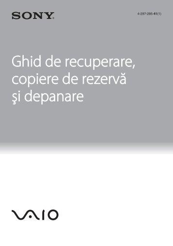 Sony VPCEJ2B1E - VPCEJ2B1E Guide de dépannage Roumain