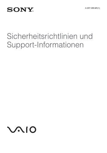 Sony VPCEJ2B1E - VPCEJ2B1E Documents de garantie Allemand