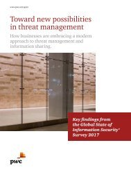 Toward new possibilities in threat management