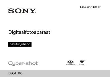 Sony DSC-H300 - DSC-H300 Mode d'emploi Estonien