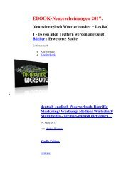 Neuerscheinungen 2017: ebooks deutsch-englisch Woerterbuecher + Lexika