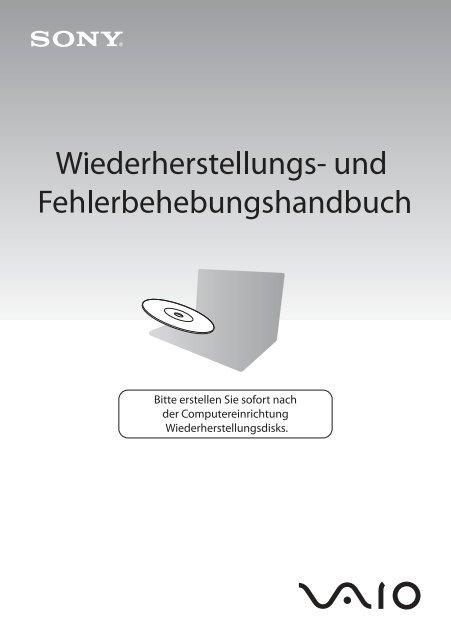 Sony VGN-FW54E - VGN-FW54E Guide de dépannage Allemand