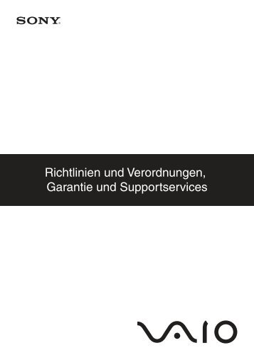 Sony VGN-FW54E - VGN-FW54E Documents de garantie Allemand
