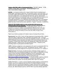PHIL 3309: Environmental Ethics [Menser] - Brooklyn College - CUNY
