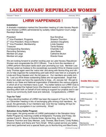 January 2012 - Lake Havasu Republican Women
