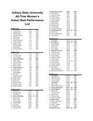 Indiana State University All-Time Women's Indoor Best Performance ...