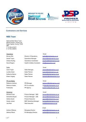 NBS Team - Southampton Boat Show