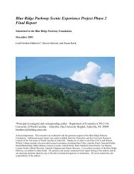 Blue Ridge Parkway Scenic Experience Project Phase 2 Final Report