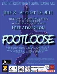 Footloose Souvenir Program - Zilker Theatre Productions