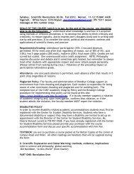 CORC 3306: Scientific Revolutions [Menser] - Brooklyn College ...