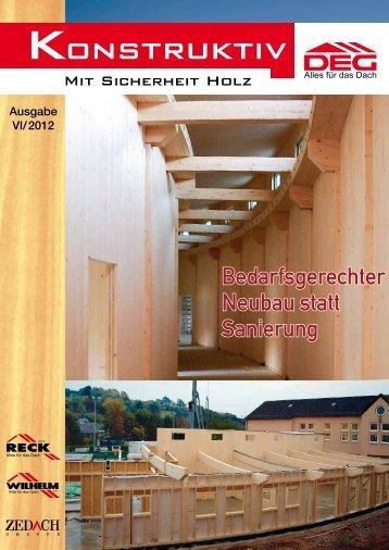 Konstruktiv 2012 - DEG Alles für das Dach eG