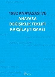 1982 ANAYASASI VE ANAYASA DEĞİŞİKLİK TEKLİFİ KARŞILAŞTIRMASI