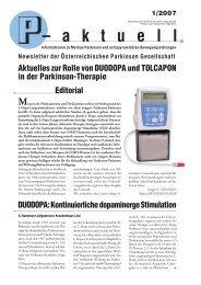 – a k t u e l l - Österreichische Parkinson Gesellschaft