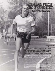 Cross Country History & Tradition - Indiana State University Athletics