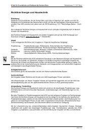 Richtlinie Energie und Haustechnik - Kanton Bern