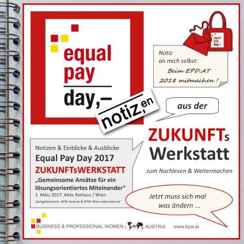 Equal Pay Day 2017 - Notizen aus der Zukunftswerkstatt / AT