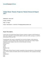 Global Home Theater Projector Market Research Report 2017