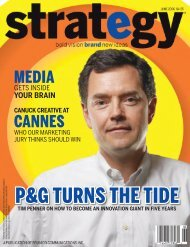 P&G TURNS THE TIDE - Strategy