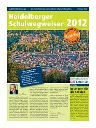 Heidelberger Schulwegweiser 2012 - Stadt Heidelberg